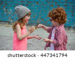 photo of two cute hipsters | Shutterstock . vector #447341794