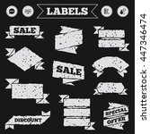 stickers  tags and banners with ... | Shutterstock .eps vector #447346474