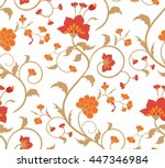 floral seamless pattern on a... | Shutterstock .eps vector #447346984