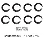 set of grunge round shape with... | Shutterstock .eps vector #447353743