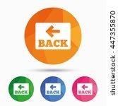 arrow sign icon. back button....