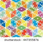 vector multicolored dice...