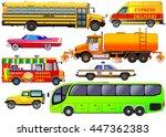 vector set of various city... | Shutterstock .eps vector #447362383
