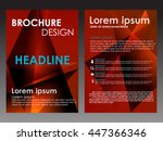 red annual report brochure... | Shutterstock .eps vector #447366346