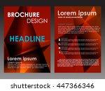 red annual report brochure... | Shutterstock .eps vector #447366346