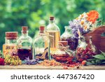bottles of tincture or potion