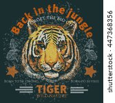 back in the jungle poster t...   Shutterstock .eps vector #447368356