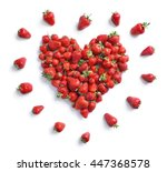 heart symbol from strawberry... | Shutterstock . vector #447368578