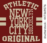 new york brooklyn sport... | Shutterstock .eps vector #447369076