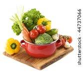 ratatouille or soup vegetables... | Shutterstock . vector #44737066