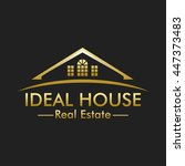Stock vector ideal house real estate logo 447373483