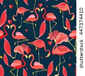 Graphic Seamless Pattern Of Re...