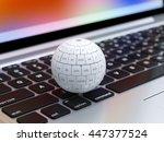3d render of global internet... | Shutterstock . vector #447377524