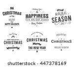 merry christmas lettering...   Shutterstock . vector #447378169