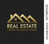 real estate logo vector design   Shutterstock .eps vector #447389434