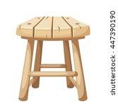 vector wooden stool isolated on ... | Shutterstock .eps vector #447390190