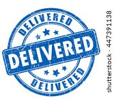 delivered rubber stamp vector... | Shutterstock .eps vector #447391138