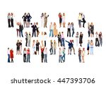 many colleagues workforce... | Shutterstock . vector #447393706