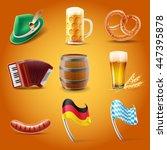 oktoberfest set illustration | Shutterstock .eps vector #447395878