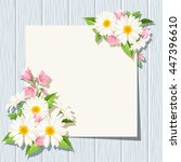 vector card with daisies and... | Shutterstock .eps vector #447396610
