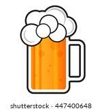 beer vector mug icon  | Shutterstock .eps vector #447400648