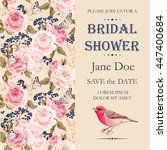 bridal shower invitation | Shutterstock .eps vector #447400684
