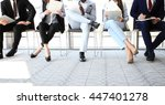 business people waiting for job ... | Shutterstock . vector #447401278