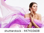 woman face beauty  fashion... | Shutterstock . vector #447410608