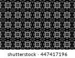 black and white ornament. m  | Shutterstock . vector #447417196