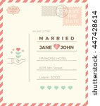 vintage wedding invitation card ... | Shutterstock .eps vector #447428614