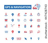 gps navigation  location  map ... | Shutterstock .eps vector #447428743