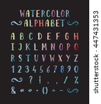 handwritten bold grunge font... | Shutterstock . vector #447431353