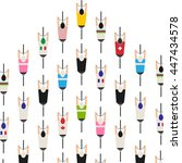 bicycle squad top view... | Shutterstock .eps vector #447434578