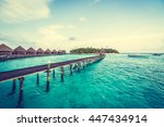 beautiful tropical maldives... | Shutterstock . vector #447434914