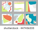 set of funky flayers  placards... | Shutterstock .eps vector #447436333