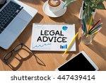 legal advice  legal advice... | Shutterstock . vector #447439414