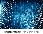 abstract blue bokeh light... | Shutterstock . vector #447444478