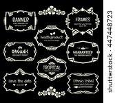 doodle vector frame set.ethnic... | Shutterstock .eps vector #447448723
