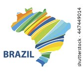 stylized map of brazil with...   Shutterstock .eps vector #447449014