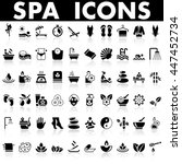 spa icons | Shutterstock .eps vector #447452734