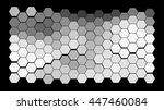 abstract hexagonal pattern on a ... | Shutterstock .eps vector #447460084