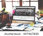advertising campaign promote... | Shutterstock . vector #447467830