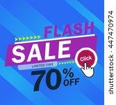 flash sale banner. vector... | Shutterstock .eps vector #447470974