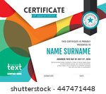 modern certificate of... | Shutterstock .eps vector #447471448