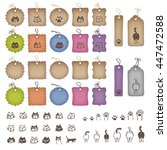 product tags in various shapes... | Shutterstock .eps vector #447472588
