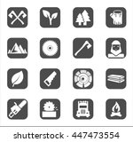woodman or lumberjack black... | Shutterstock .eps vector #447473554