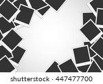 pile of photo frames on white... | Shutterstock .eps vector #447477700