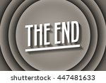 the end old movie title | Shutterstock . vector #447481633