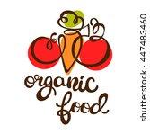 organic food. tomato  carrot... | Shutterstock .eps vector #447483460