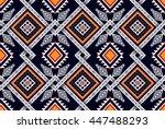 oriental ethnic seamless... | Shutterstock .eps vector #447488293